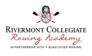 Rivermont Collegiate Rowing Academy logo with crest and cross ores.