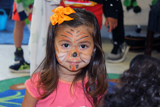 photo of girl with face paint