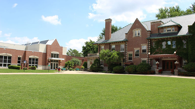 bettendorf mansion and becherer hall on the Rivermont campus