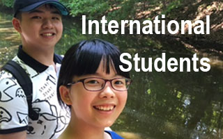 Male and female students from China sightseeing in the Quad Cities