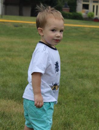 Preschool boy looking at camera