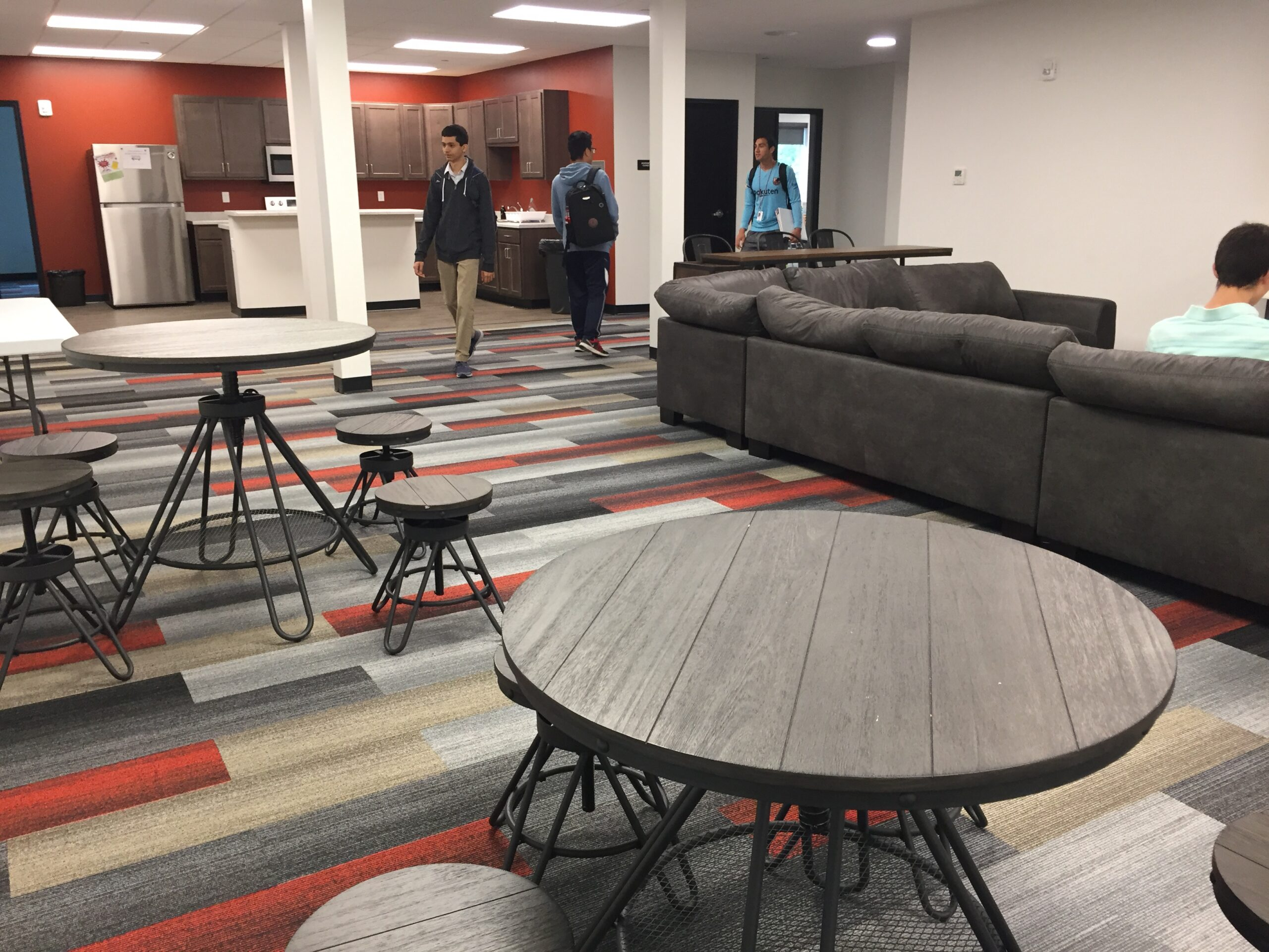 Student commons in the STEAM center