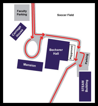 Traffice flow on campus diagram
